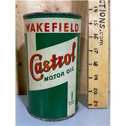 WAKEFIELD CASTROL MOTOR OIL TIN - 1 QT SIZE