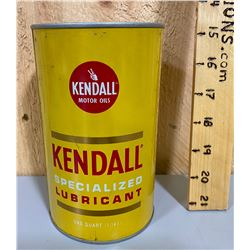 KENDALL MOTOR OILS TIN - FULL 1 QT SIZE