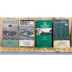 LOT OF 4 JOHN DEERE POCKET BOOKS - DUNDALK / MOUNT FOREST / STAYNER