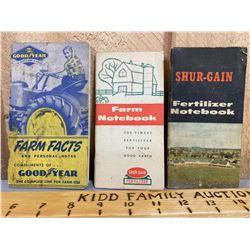 GOODYEAR & SHUR-GAIN FARM NOTEBOOKS