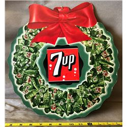 7UP DBL SIDED CARDBOARD CHRISTMAS SIGN