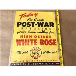 WHITE ROSE 'POST WAR' AD