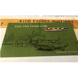 1961 FORD OWNERS MANUAL