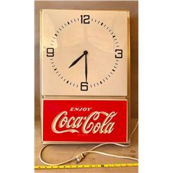 COCA-COLA ILLUMINATING CLOCK
