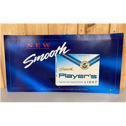 """PLAYERS CIGARETTES CARDBOARD SIGN - 20"""" X 39"""""""