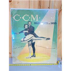 C C M SKATES - 1950's DISPLAY SIGN