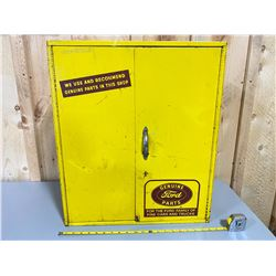 1950's FORD WALL MOUNT PARTS CABINET