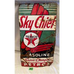 "TEXACO SKY CHIEF SSP SIGN - 12"" X 22"""
