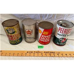 LOT OF 4 MISC OIL CANS