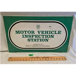 MTO DSP INSPECTION STATION SIGN