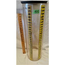 ACRYLIC CLEAR CYLINDER WITH MEASUREMENT MARKINGS