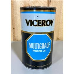 VICEROY OIL CAN - FULL 1 QT SIZE