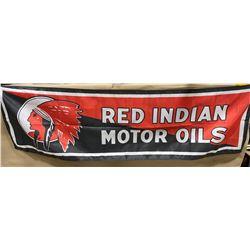 "RED INDIAN SILK BANNER - 17"" X 57"""