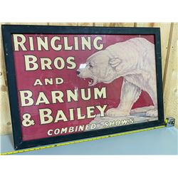 """FRAMED RINGLING BROS CIRCUS POSTER - 25"""" X 35"""""""
