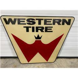 1960'S WESTERN TIRE DEALER SIGN