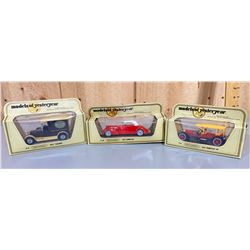 LOT OF 3 MATCHBOX 'MODELS OF YESTERDAY' DIECAST CARS