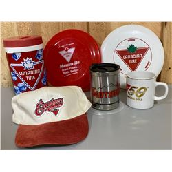 LOT OF COLLECTIBLE CANADIAN TIRE MEMORBILIA