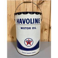 TEXACO HAVOLINE 5 GAL PAIL