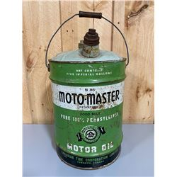MOTO-MASTER 5 GAL OIL PAIL WITH SPOUT