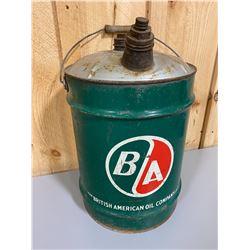 BA MOTOR OIL FUEL CAN