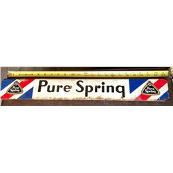 PURE SPRING SST SIGN
