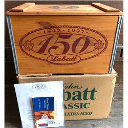 JOHN LABATT BEER CRATE WITH ORIGINAL BOX