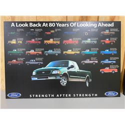 """FORD 'LOOKING BACK' WALL PLAQUE - 25"""" X 38"""""""
