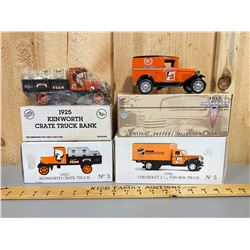 LOT OF 2 DIECAST FRAM TRUCKS WITH ORIGINAL BOXES