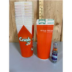 LOT OF VINTAGE ORANGE CRUSH FOUNTAIN CUPS