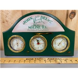 JOHN DEERE MANTLE DISPLAY - CLOCK / THERMOMETER / HUMIDISTAT
