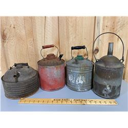 LOT OF VINTAGE FUEL CANS