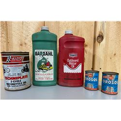 LOT OF MISC GAS / OIL CONTAINERS