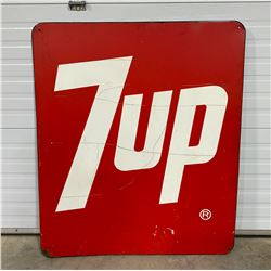 "7UP SIGN DECAL ON PORCELAIN BACKING -  39"" X 46"""