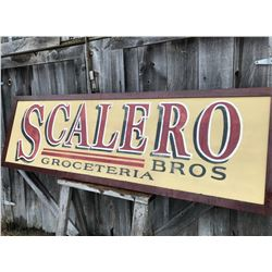 VINTAGE GROCERY STORE WOOD SIGN - SCALERO - 2.5' X 8'
