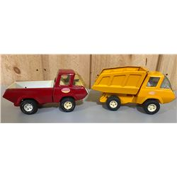 LOT OF 2 TONKA CONSTRUCTION TRUCKS
