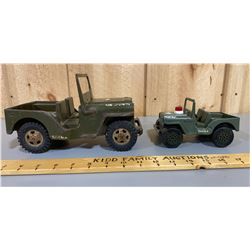 LOT OF 2 TONKA ARMY JEEPS