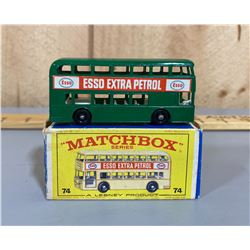 MATCHBOX ESSO DOUBLE DECKER BUS WITH ORIGINAL BOX