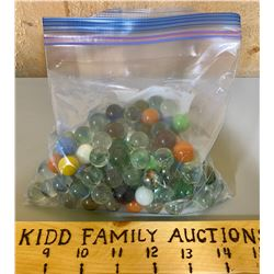 BAG OF MISC MARBLES
