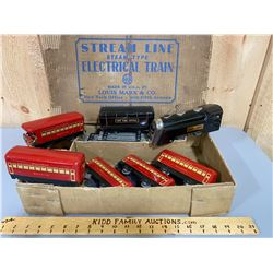 MARX STEAM TRAIN SET IN ORIGINAL BOX