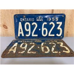 PAIR OF 1955 ONTARIO LICENCE PLATES