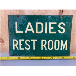 LADIES REST ROOM DSP SIGN