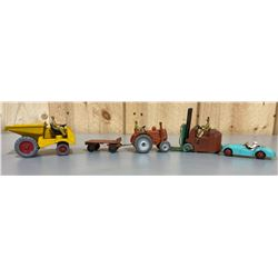 LOT OF 4 VINTAGE DINKY TOY VEHICLES WITH DRIVERS