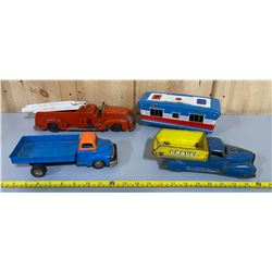 LOT OF 4 VINTAGE VEHICLES - INCLUDES MARX