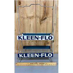 KLEEN-FLOW WIRE DISPLAY RACK