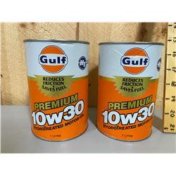 GULF - 2  FULL 1 L WRAP TINS