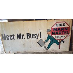 1950's SSP 4' X 8' ADVERTISING SIGN