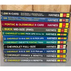 LOT OF VINTAGE GM MANUAL BY HAYNES