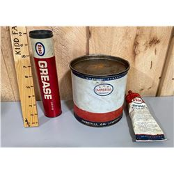 LOT OF 3 ESSO GREASE W/ CONTENTS