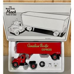 FIRST GEAR CANADIAN PACIFIC 1960 MACK TRACTOR TRAILER - 1/34 S