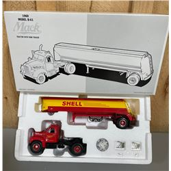 FIRST GEAR SHELL 1960 MACK TRACTOR TRAILER - 1/34 S